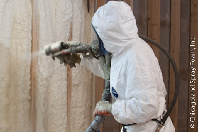 Home in Chicago Sprayed with Open Cell Spray Polyurethane Foam